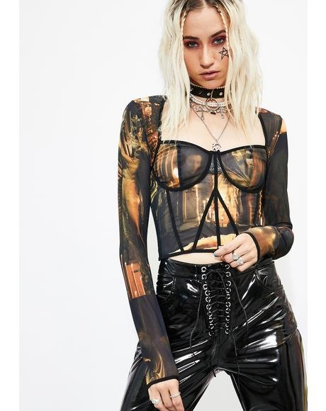Evil Underworld Corset Top