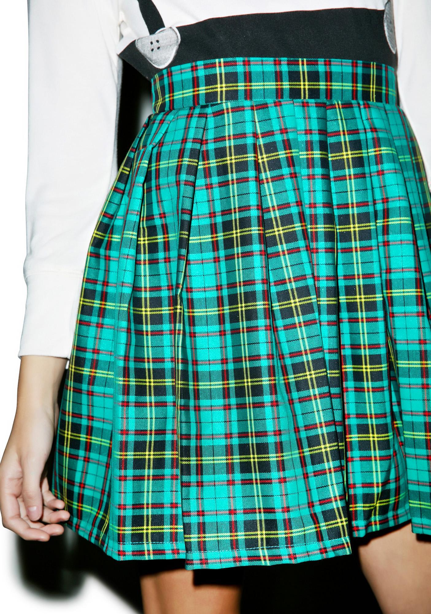Happy Monday Reality Bites Charm Plaid Skirt