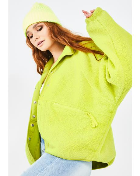 Lime Hit The Slopes Fleece Jacket
