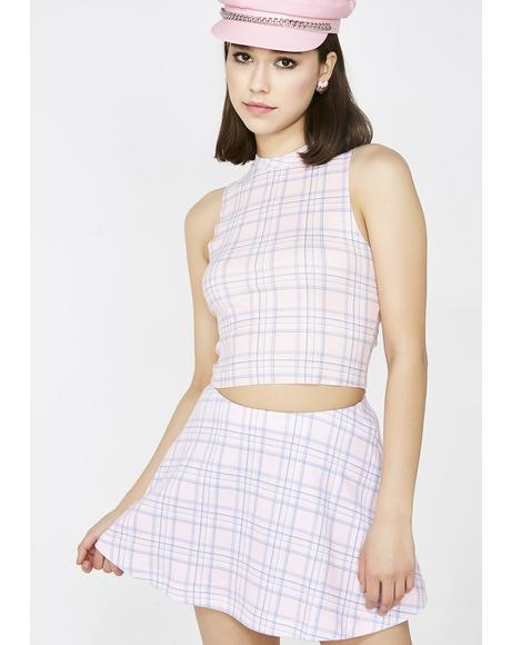 Pastel Plaid Villa Skirt