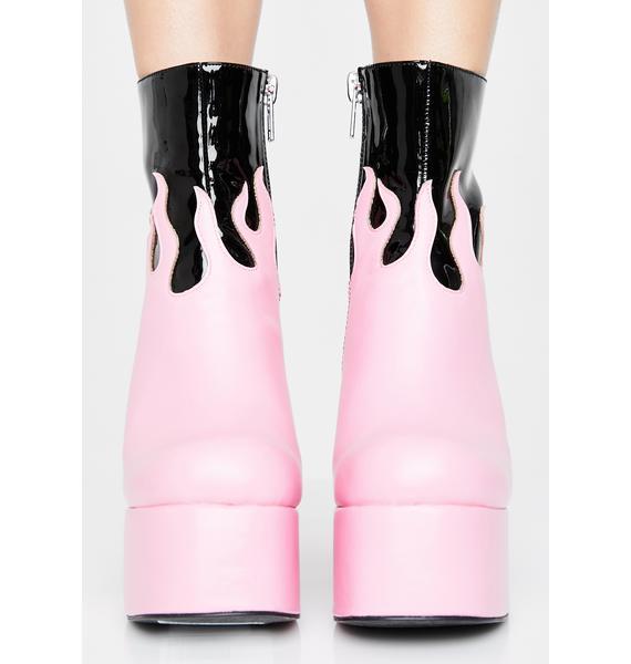 Sugar Thrillz Ring Of Fire Platform Boots