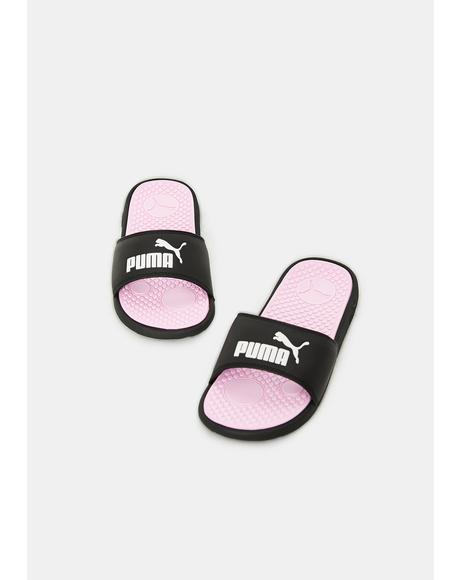 Cherry Cool Cat Women's Slides