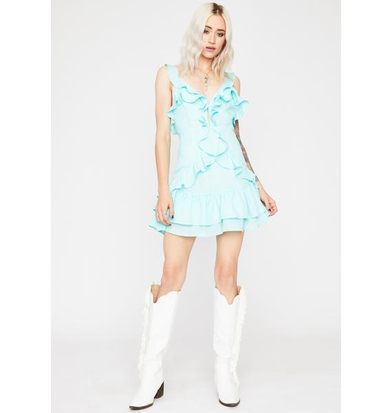 Mint Sunshine Sweetness Ruffled Dress