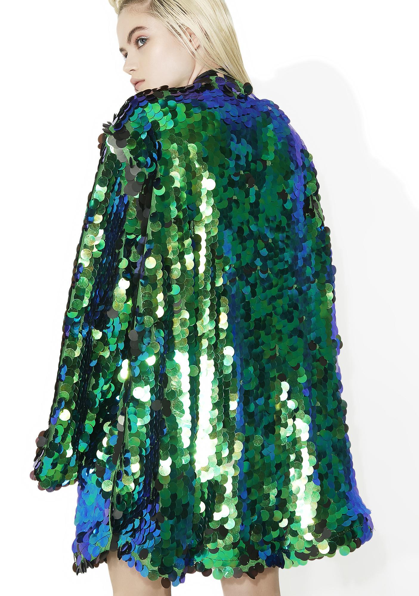 B Glittz Peacock Dreams Sequin Kimono