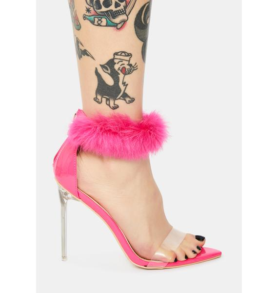 Candy Classy Act Faux Fur Heels