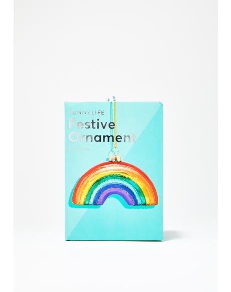 Painted Skies Rainbow Ornament