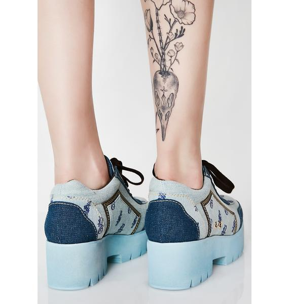 Poster Grl Get Them Coinz Denim Sneakers