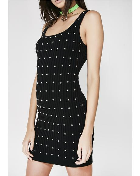 What A Stud Rib Dress