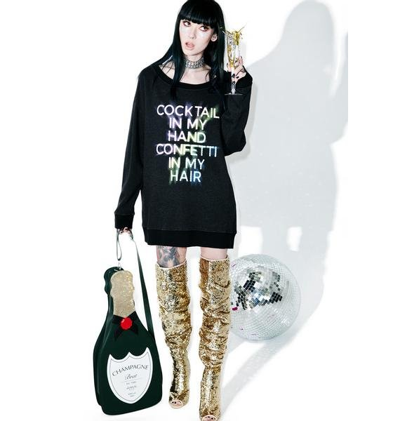 Wildfox Couture Cocktails And Confetti Sweater