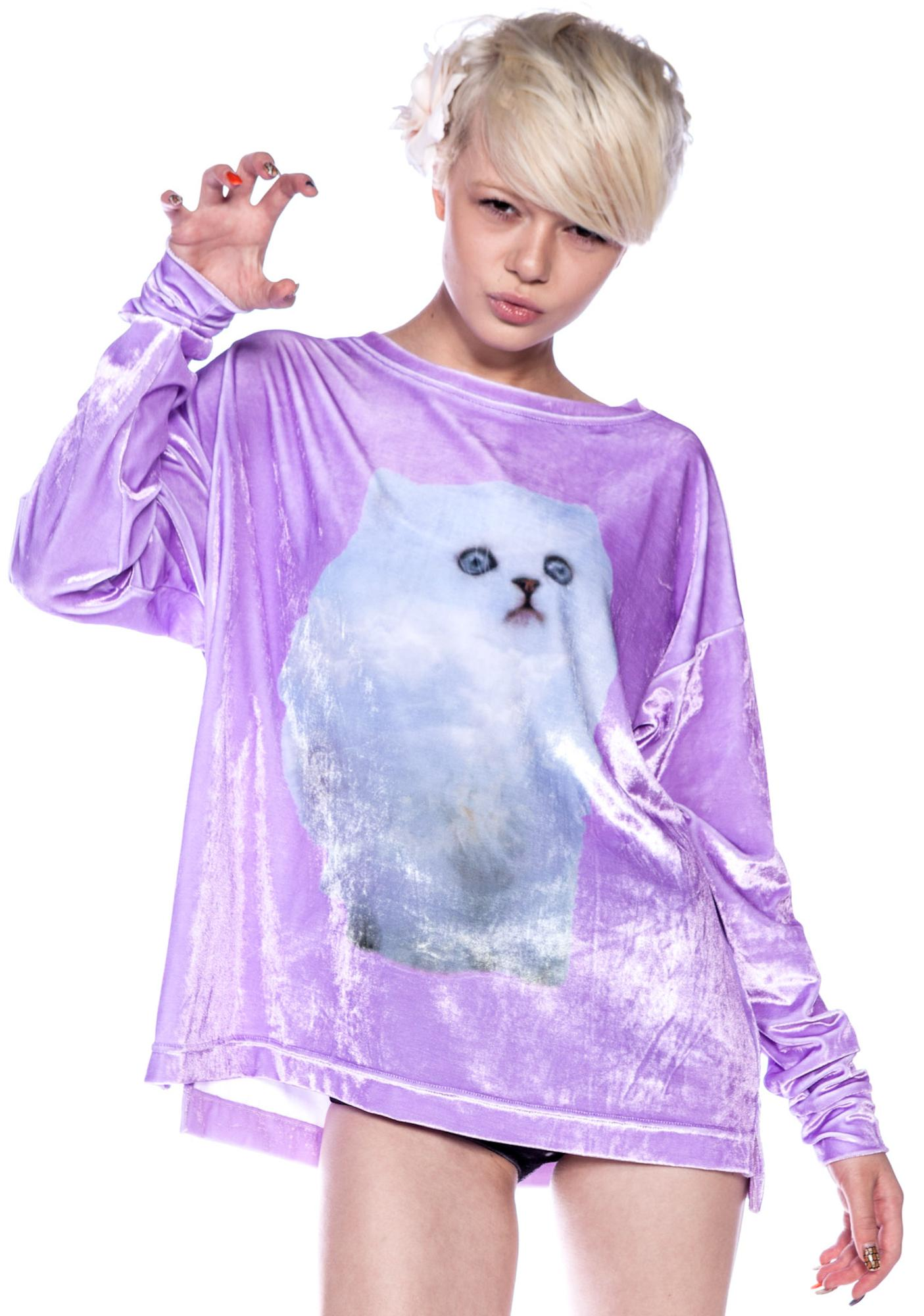 Wildfox Couture Cloud Kitten Sweater