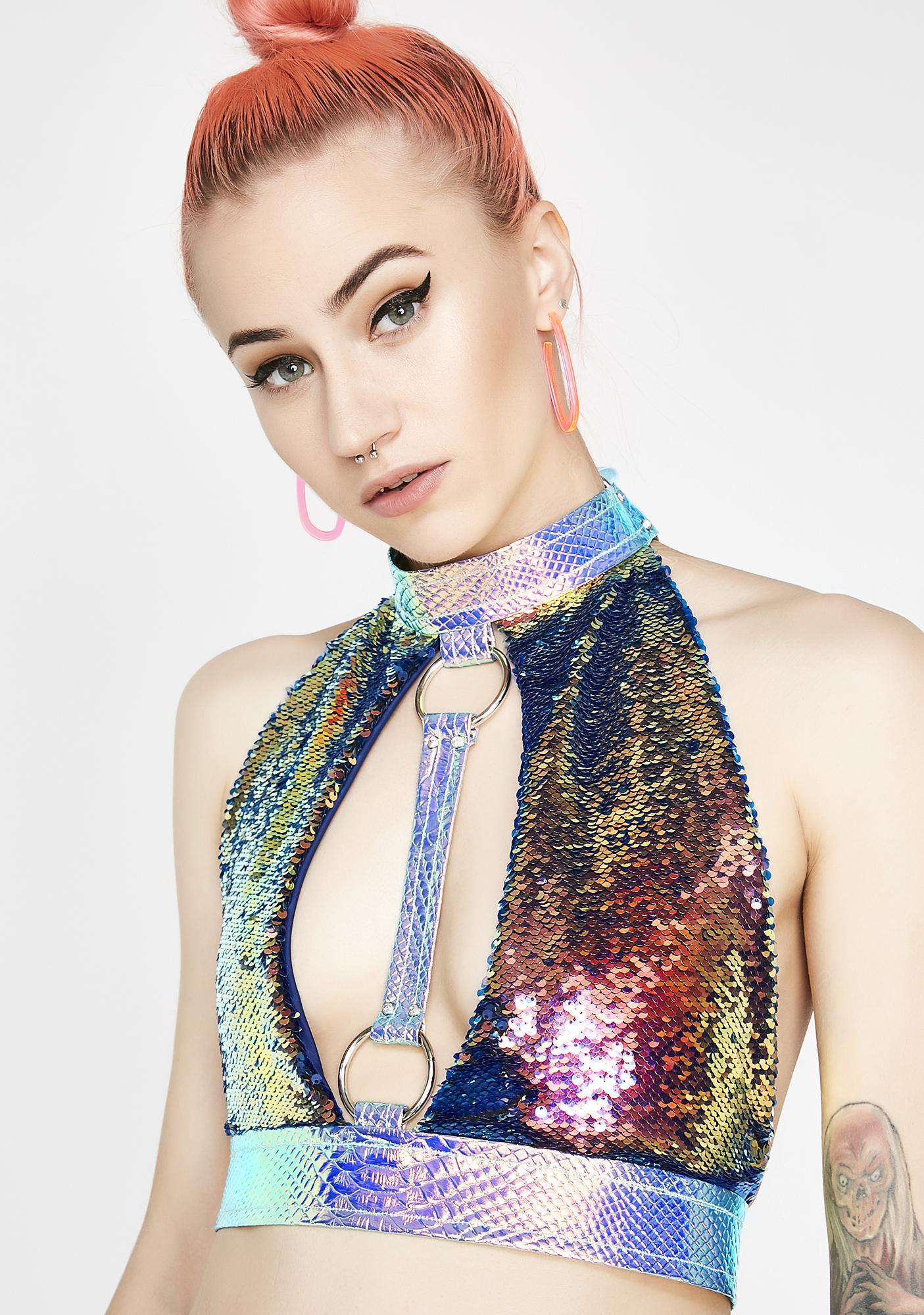 Seagypsy Couture Gemini Nova Dragon Halter Top