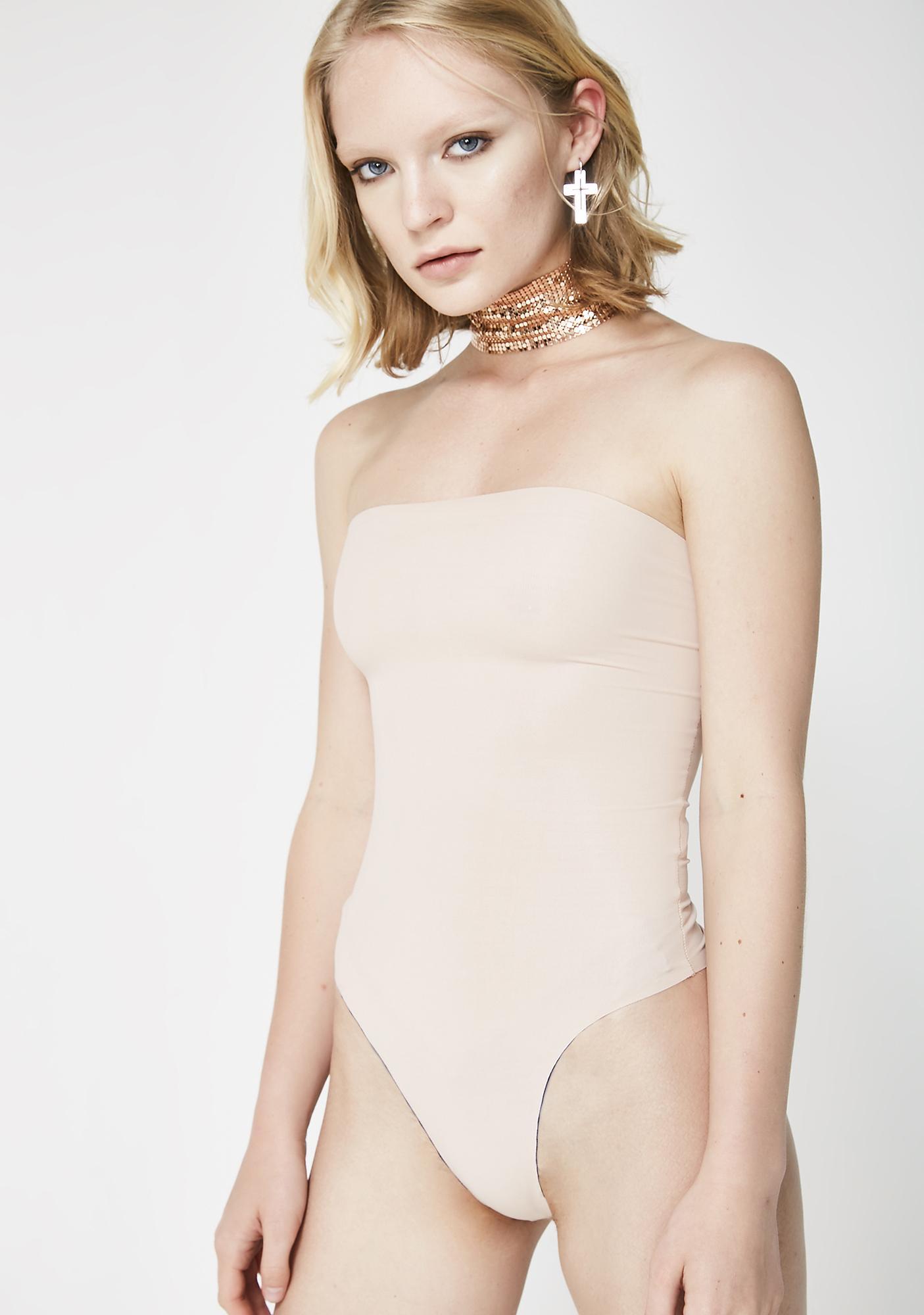 Kiki Riki Nude Run The Show Strapless Bodysuit