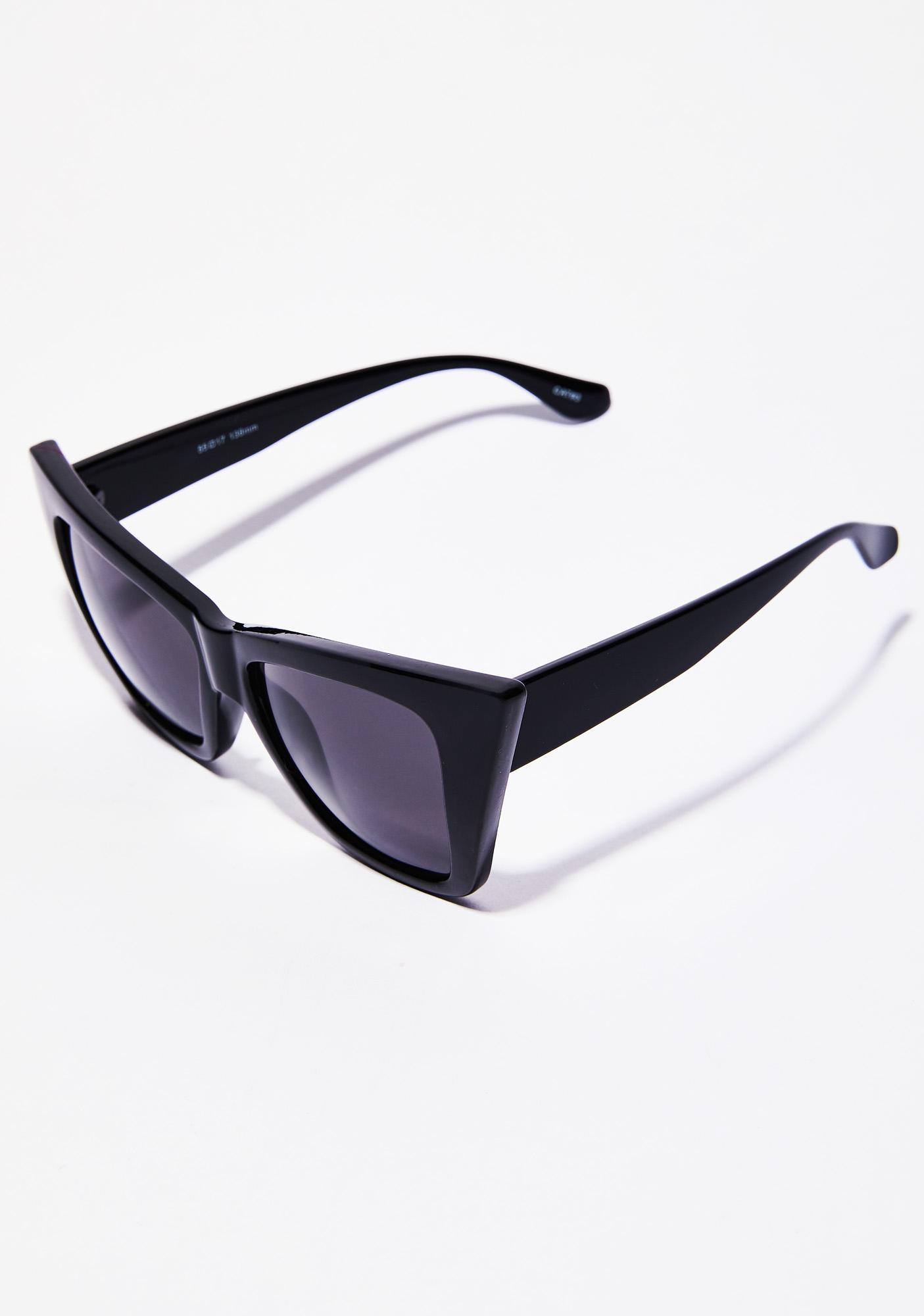 Dark Hollywood Hillz Cat Eye Sunglasses