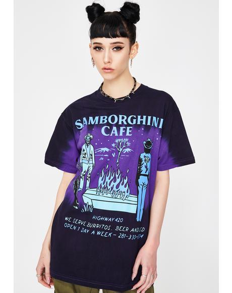 Samborghini Cafe Tie Dye Tee
