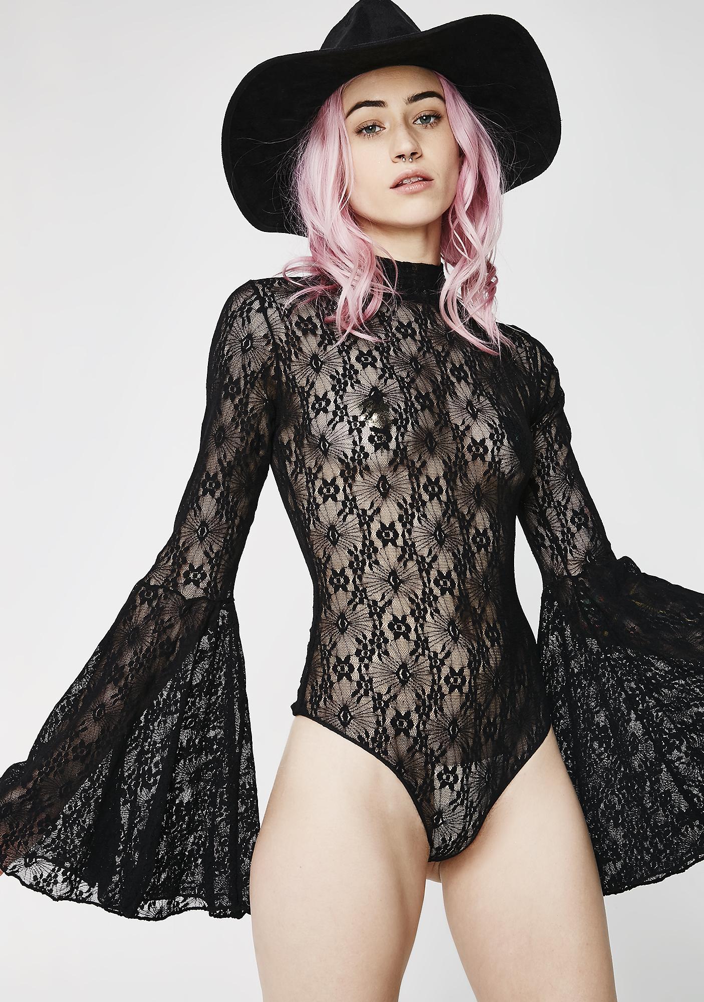 Dark Spellcaster Bell Sleeve Bodysuit