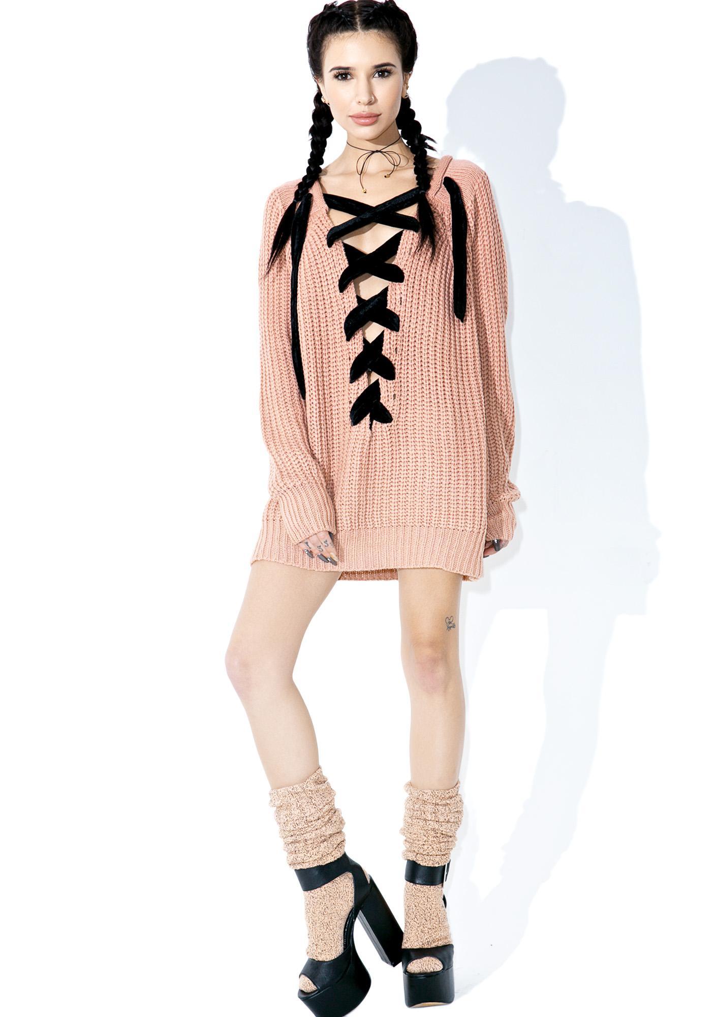 Chorus Lace-Up Sweater