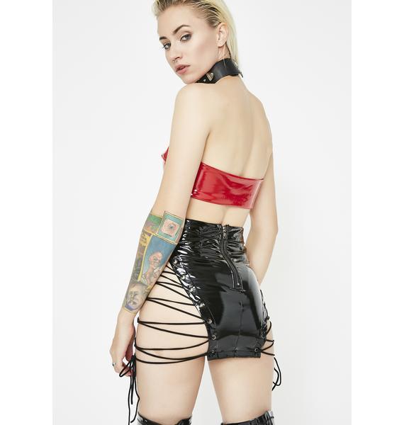 Risky Bidness PVC Skirt