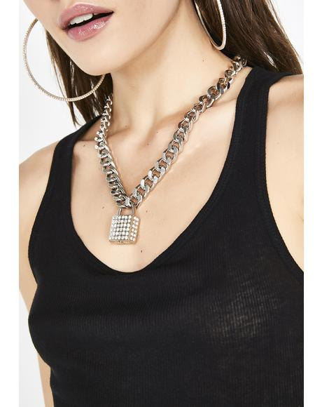 Warden Wifey Rhinestone Necklace