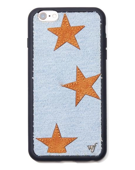 Tan Star Denim iPhone Case