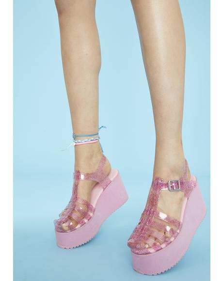 Outta Town Jelly Sandals