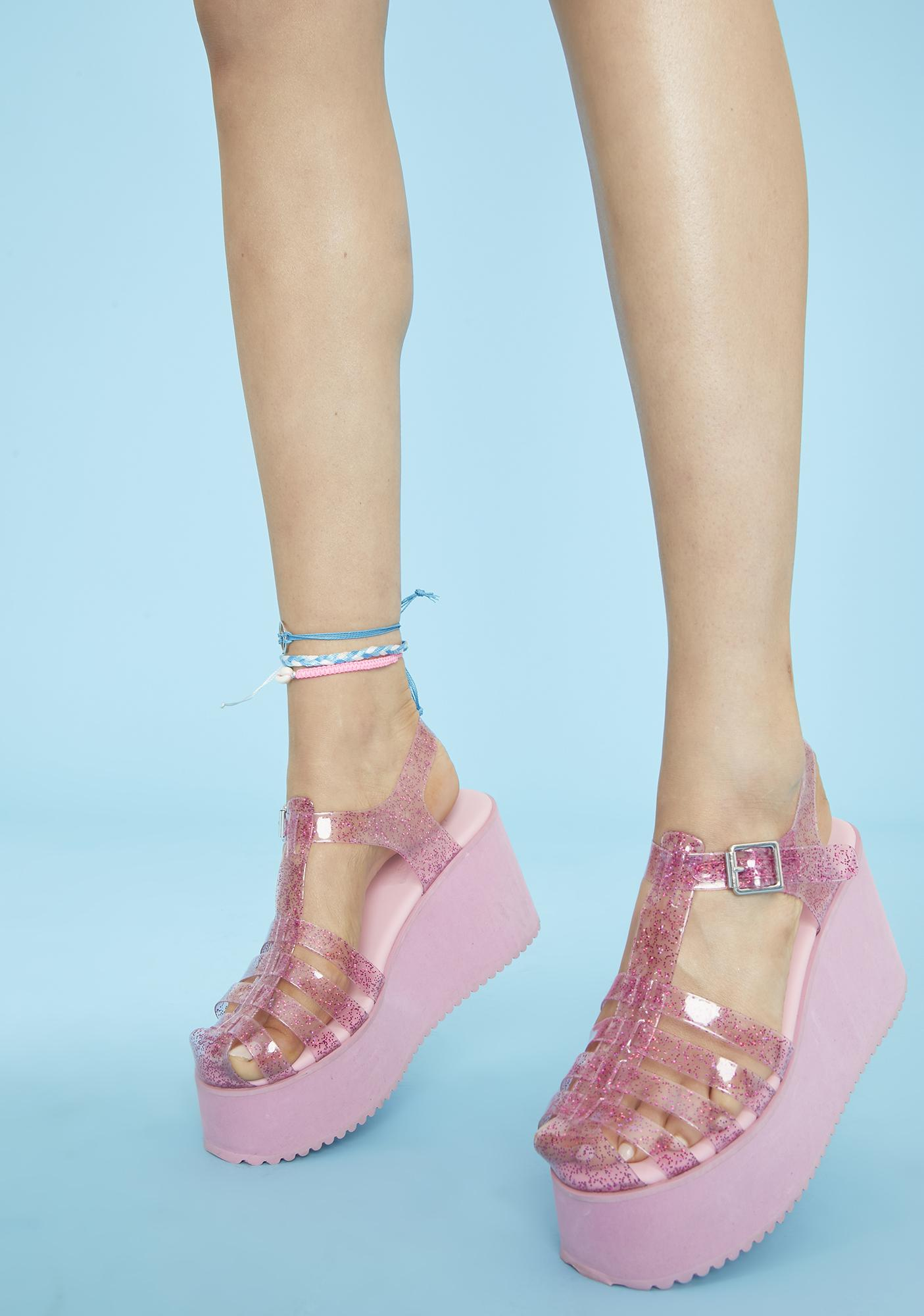 Pink Jelly Heels