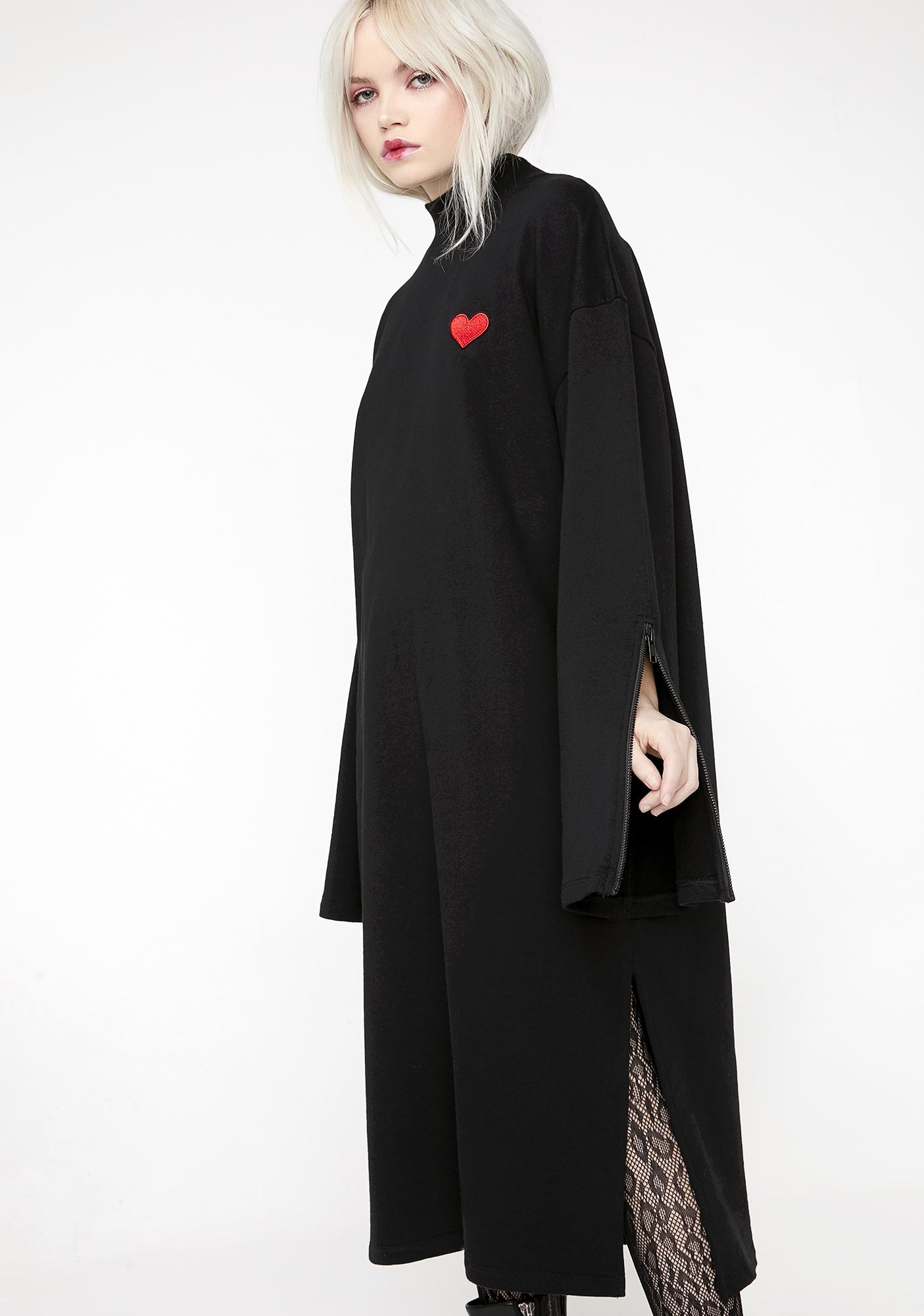 Lazy Oaf Cold Hearted Sweater Dress