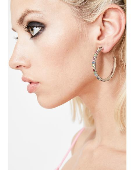Glistening Babe Rhinestone Earrings