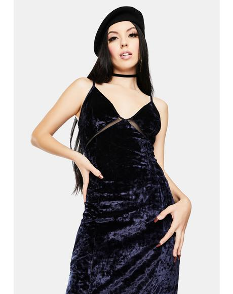 Low Key Crushin' Velvet Maxi Slip Dress