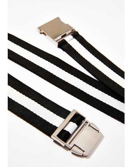 Victory Lap Striped Belt