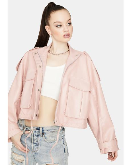 Don't Drag Me Down Crop Jacket