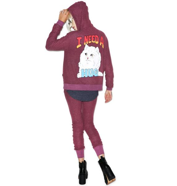 Wildfox Couture I Need A Hug Love Story Zip Up