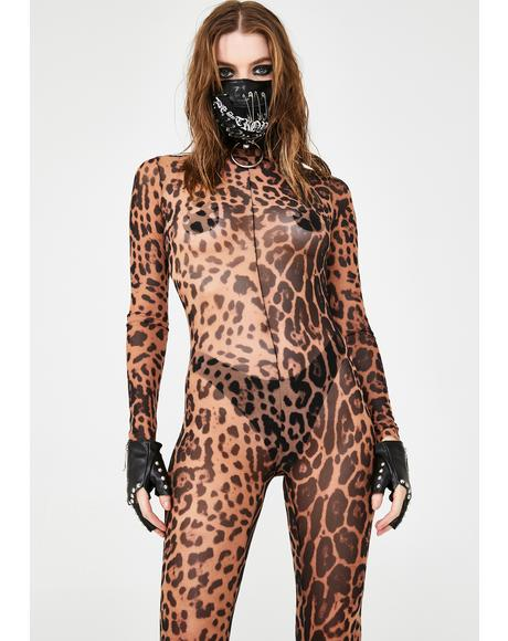 Feral Wanderer Sheer Catsuit