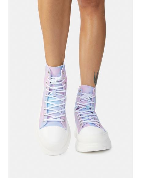 Sunset Tie Dye Public Admirer Sneakers