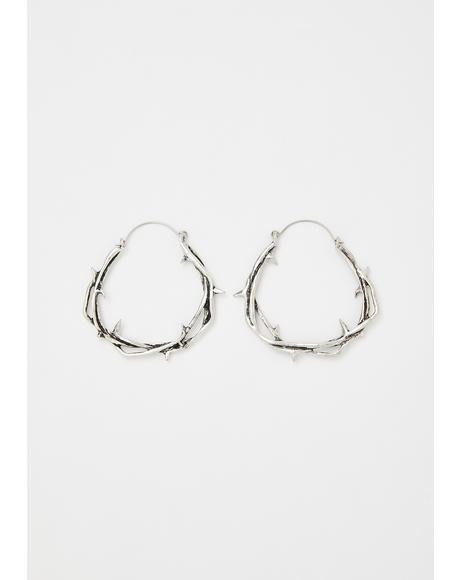 Maleficent's Maze Hoop Earrings