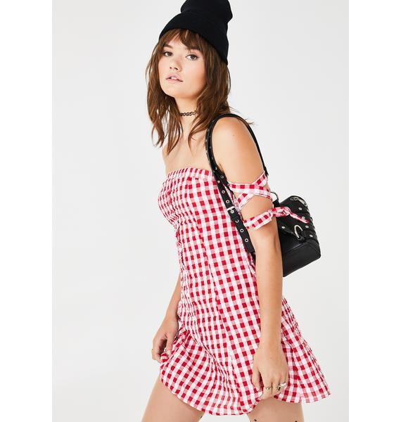 Cherry Cola Gingham Dress