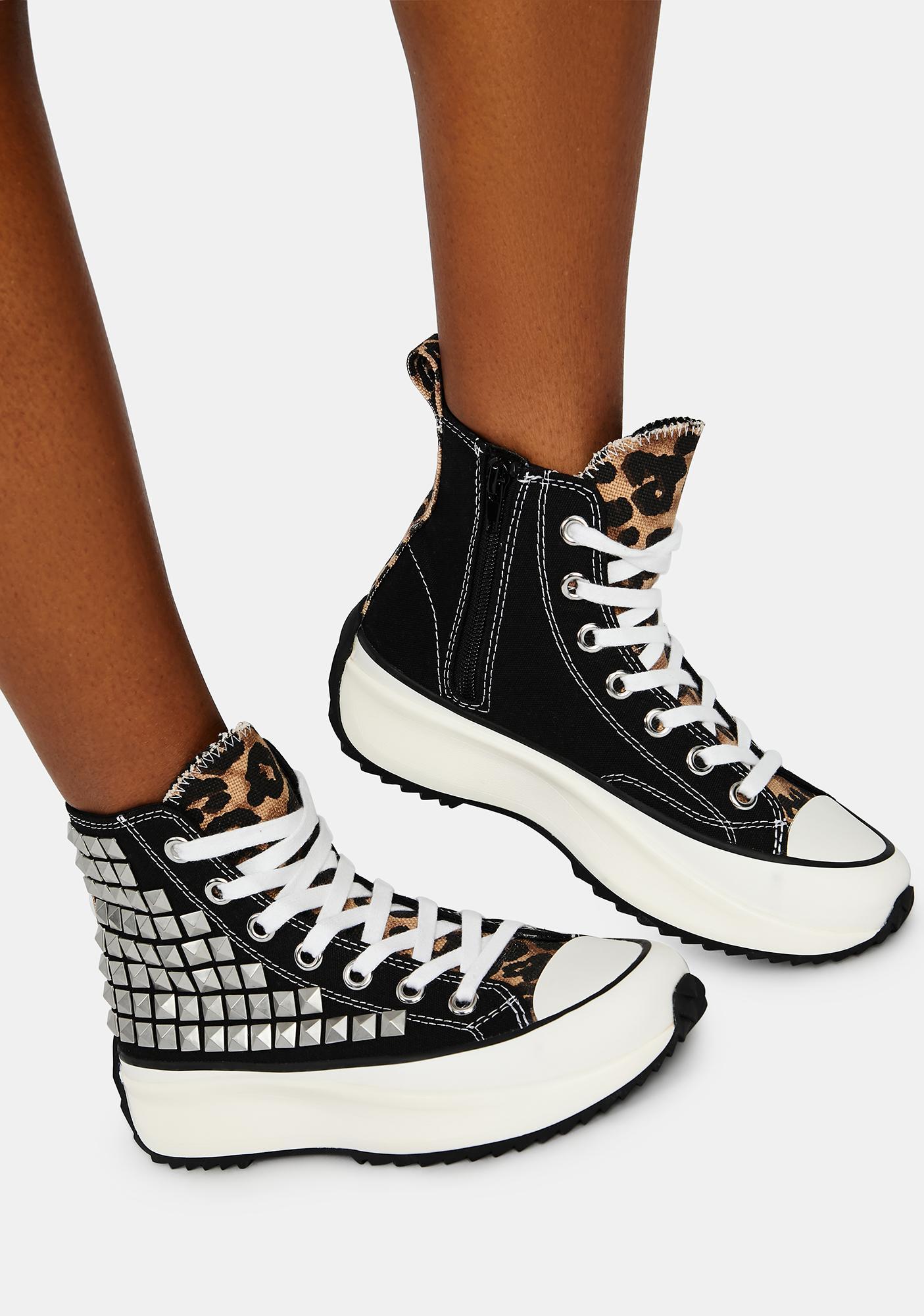 Steve Madden Shaft Studded Platform Sneakers