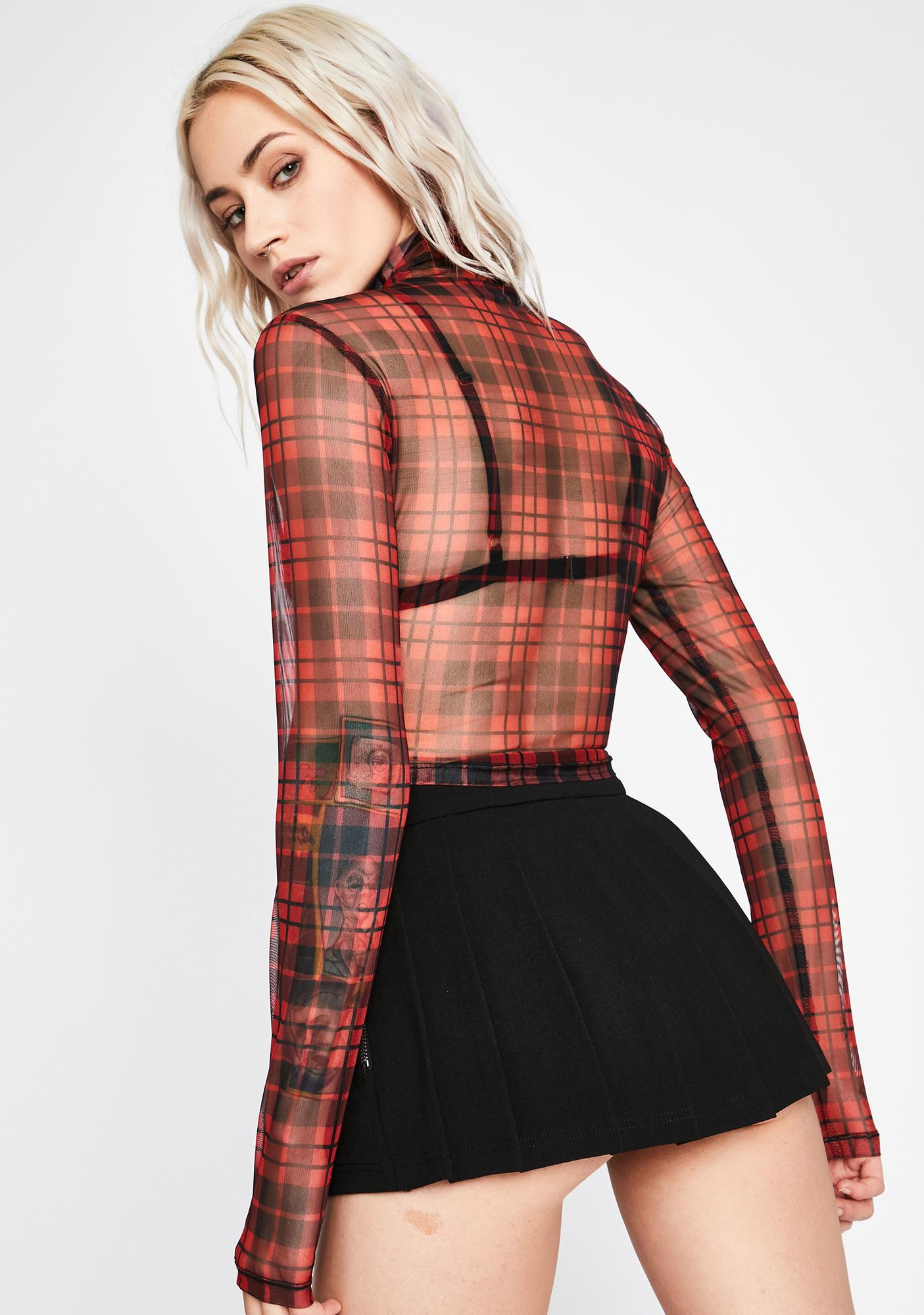 Maybe Never Mesh Top