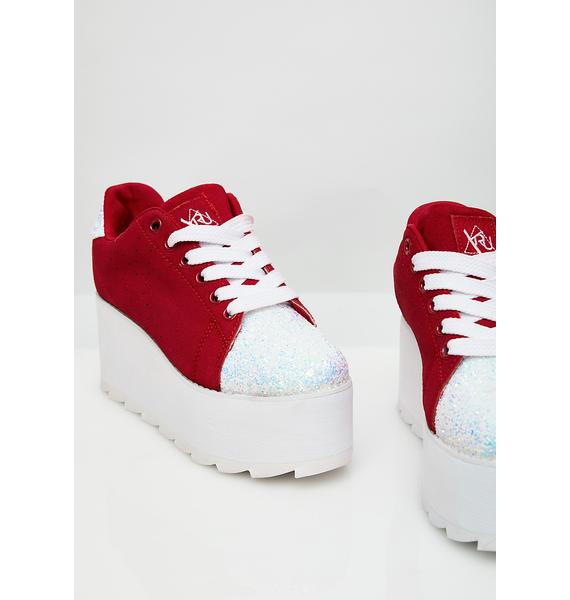 Y.R.U. Chasing Cupid Platform Lala Sneakers