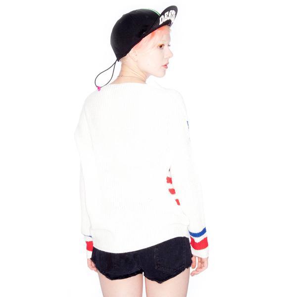 UNIF Flag Religion Sweater