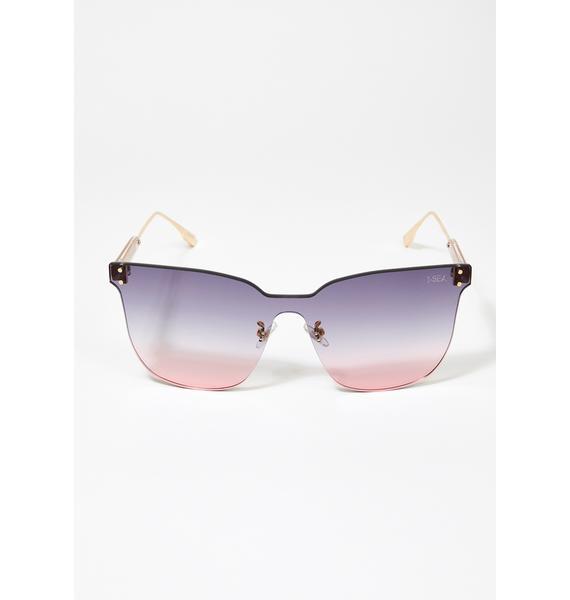 I-SEA Gray Pink Moonchild Sunglasses