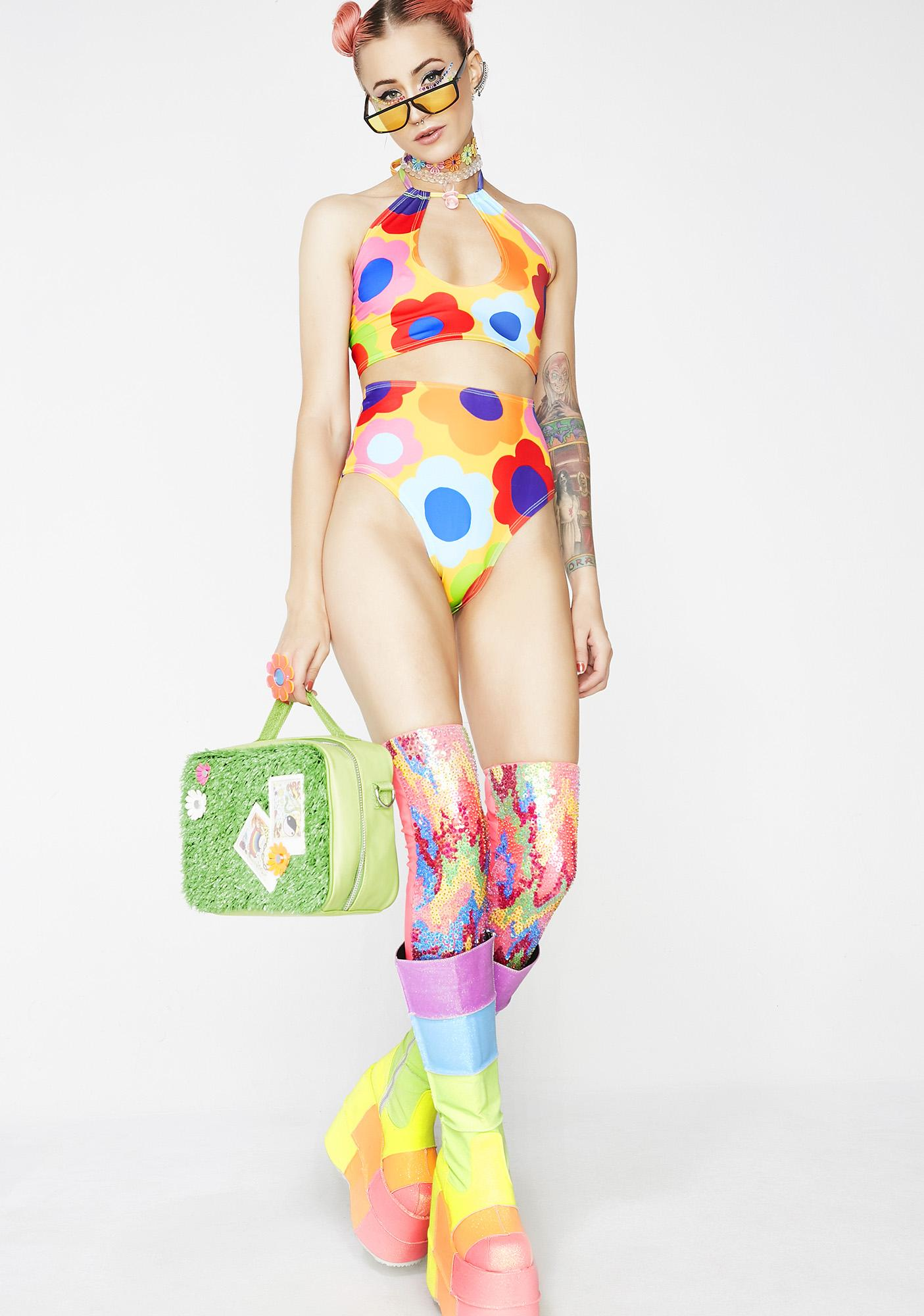 Rheabfunky 60s Flur High-Rise Bikini Bottoms