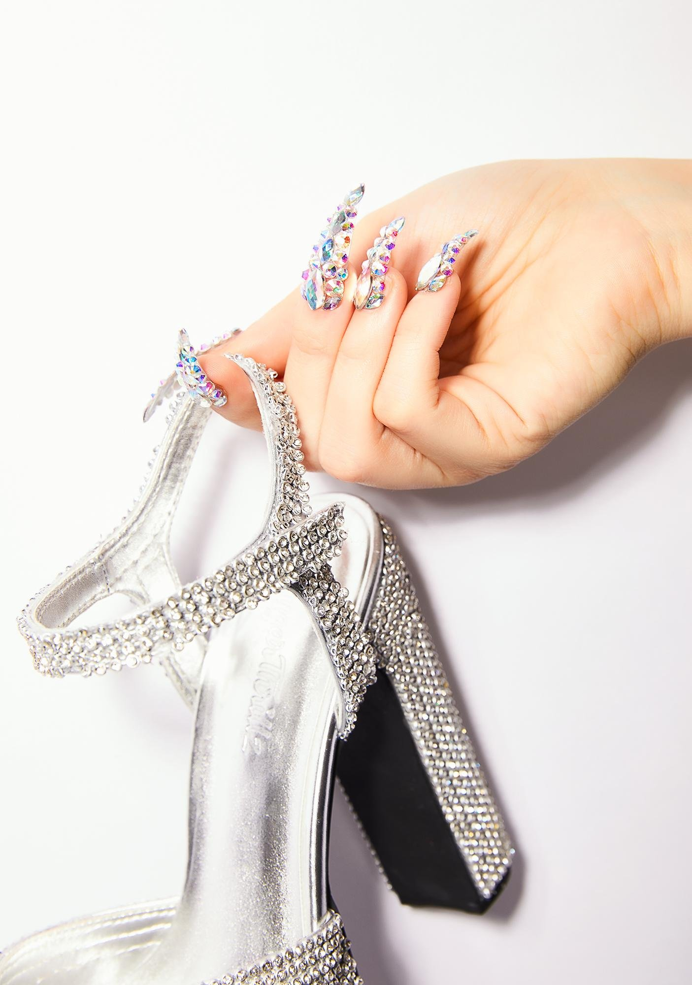 Unicorns Poop Glitter Diamante Nail Set