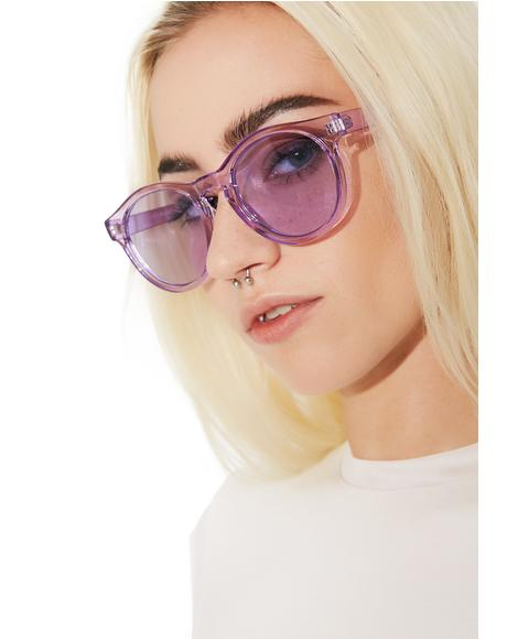 Violet Pardon Me Sunglasses