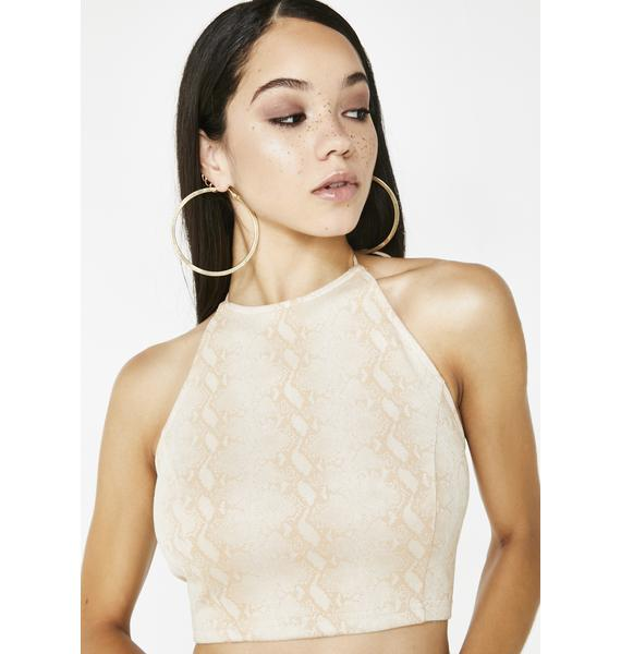 Cold Blooded Snakeskin Top