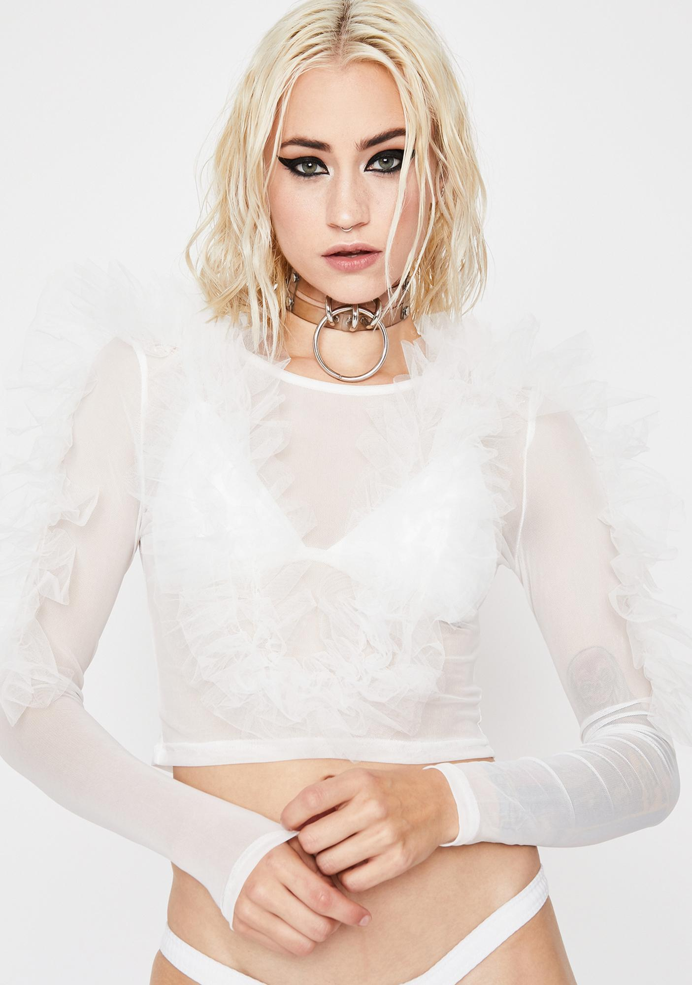 Dramatic Irony Tulle Top