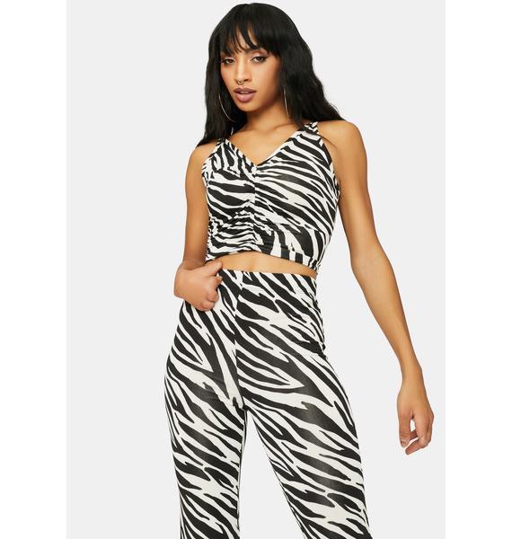 Animal Behavior Zebra Print Pant Set