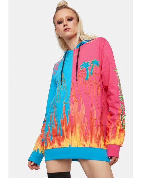 Split Flame Hoodie