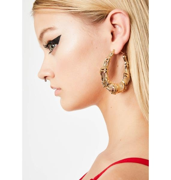 Hott Mami Hoop Earrings