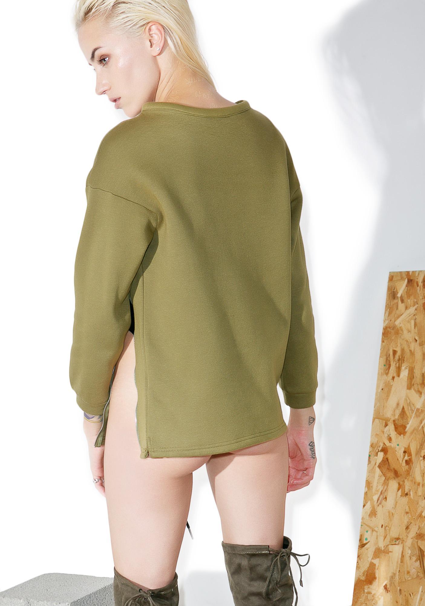 Shade London Logo Zipper Sweatshirt