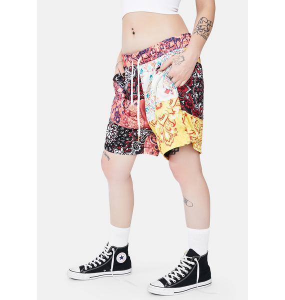 Diamond Supply Co Paisley Patchwork Lounge Shorts